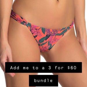 ViX - Blossom print loop bikini bottoms